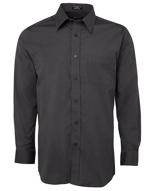 Urban L/S Poplin Shirt-  Charcoal
