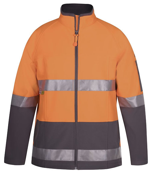 Hi Vis (D+N) Softshell Jacket - Orange/Charcoal