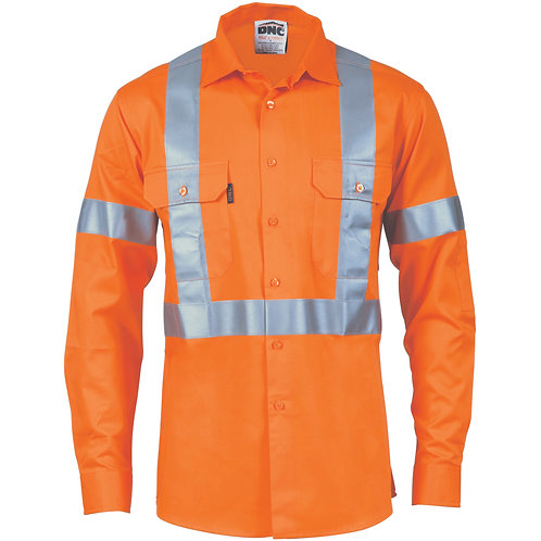 HiVis Cool-Breeze 155gsm Cotton with 'X' Back & additional 3m r/Tape on Tail