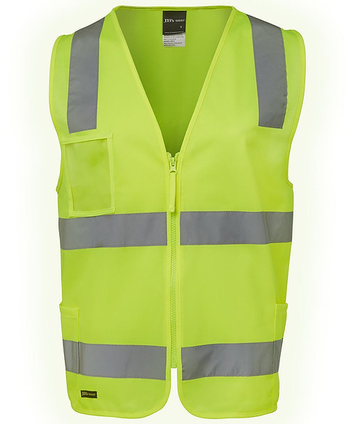 Hi Vis (D+N) Zip Safety Vest - Yellow