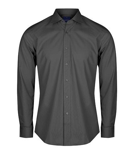Mens Premium Poplin Shirt - Charocal
