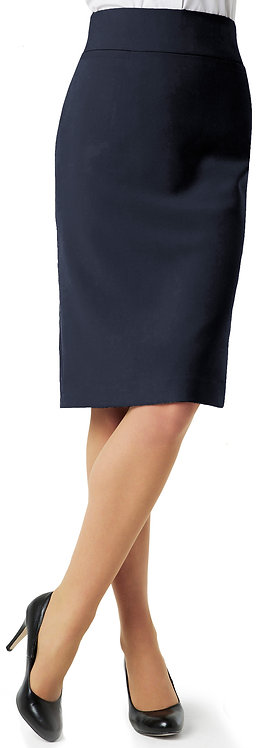 Womens Classic Below Knee Skirt - Navy