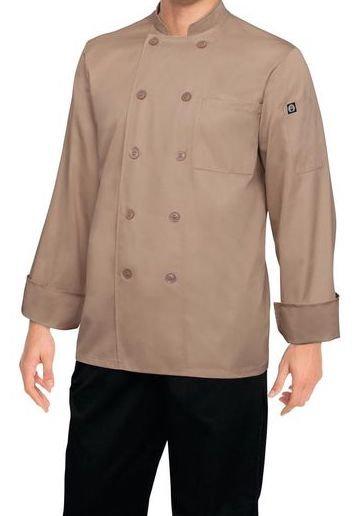 Khaki Chef Jacket - MOQ 2