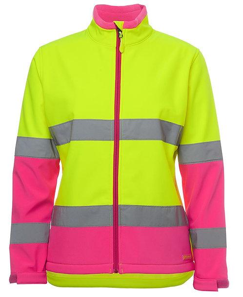 Womens Hi Vis D+N Water Resistant Soft - Lime / Pink