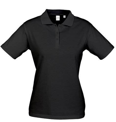Womens Premium 100% Cotton Polo - Black