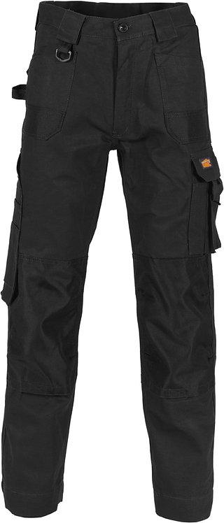 DNC Duratex Cotton Duck Weave Cargo Pants - Black (knee pads not inclu