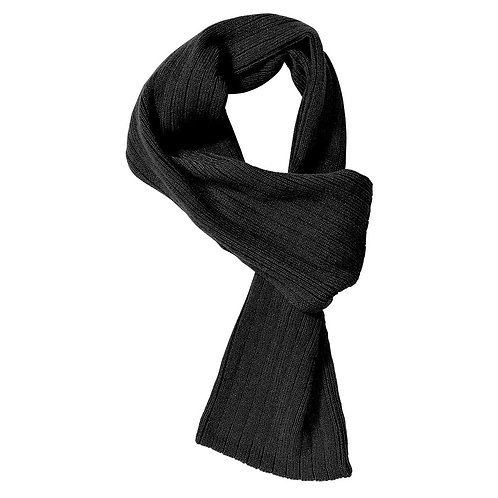Cable Knit Scarf Black - MOQ 10