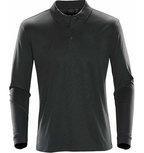 Mens Performance LS Polo Shirt - Gunmetal
