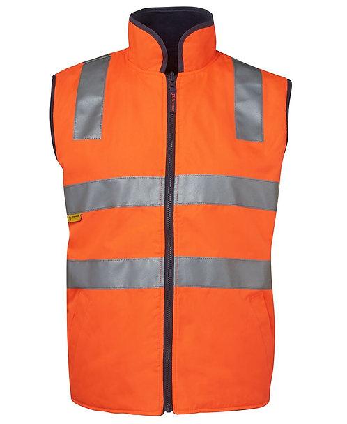 Hi-Vis Reversible Vest (D+N) - Orange/Navy