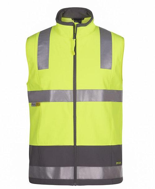 Hi-Vis Softshell Vest (D+N) - Lime/Charcoal
