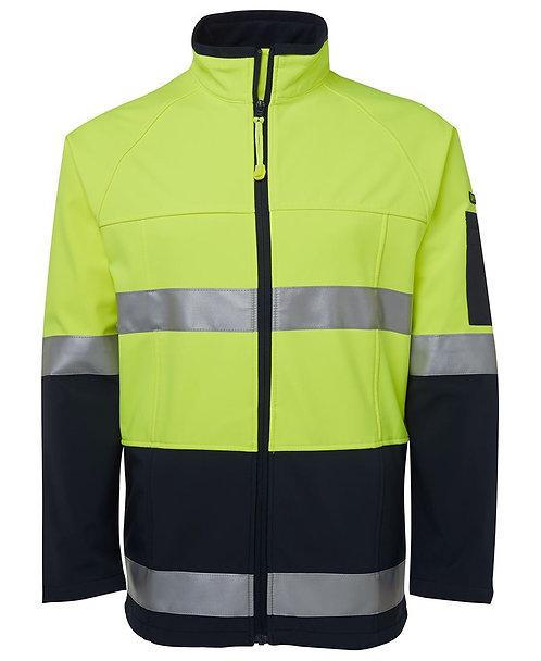 Hi Vis (D+N) Softshell Jacket - Lime/Navy