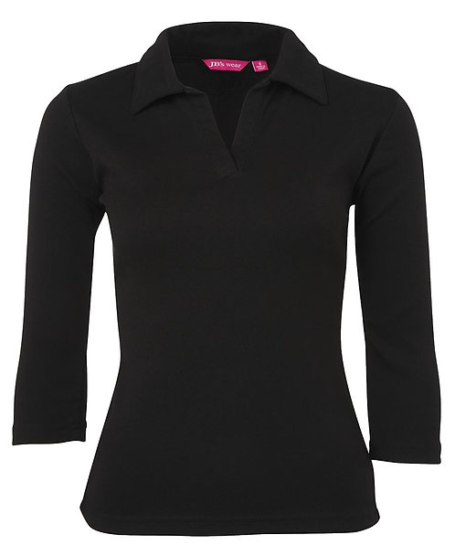 Ladies 3/4 Sleeve Fitted Polo