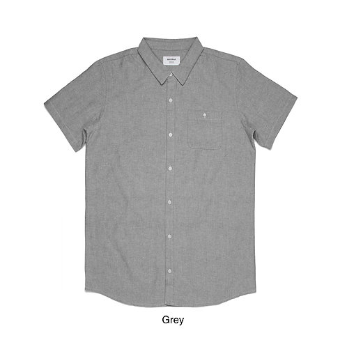 AS Colour Mens S/S 100% Cotton Shirt Grey - Available from