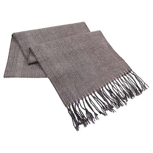 Kanata Lambswool Blend Scarf Dark Grey- MOQ 10