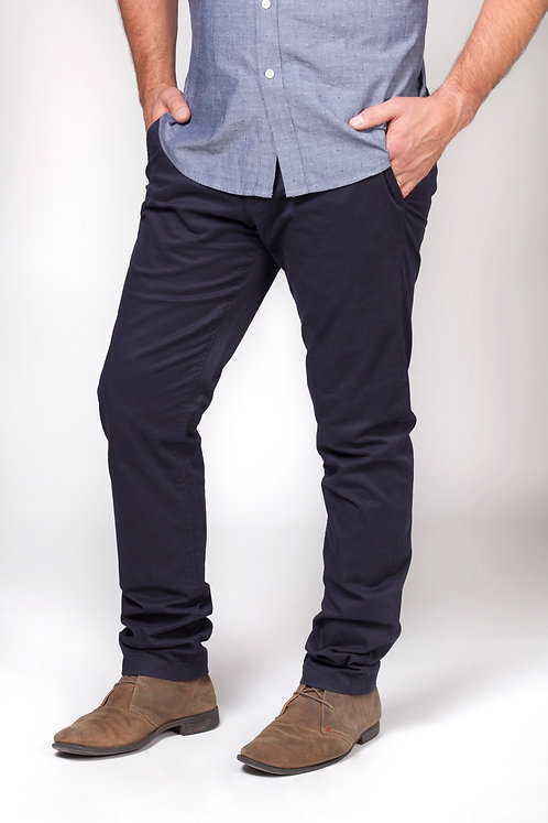 Mens Turn Up Chino Navy