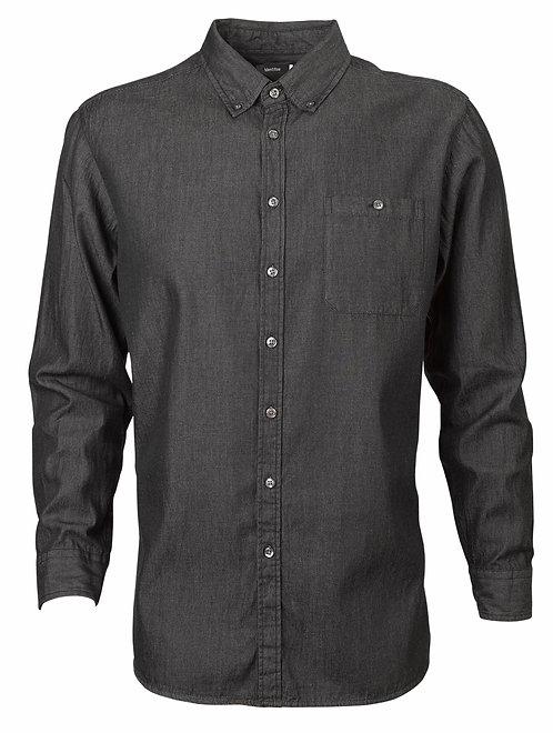 Men's Dylan Long Sleeve Denim Shirt - Black
