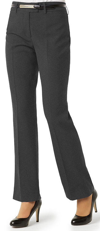 Womens Classic Flat Front Pant - Charcoal