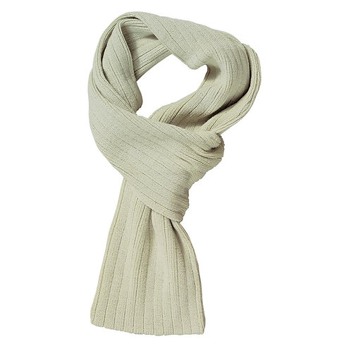 Cable Knit Scarf Stone - MOQ 10