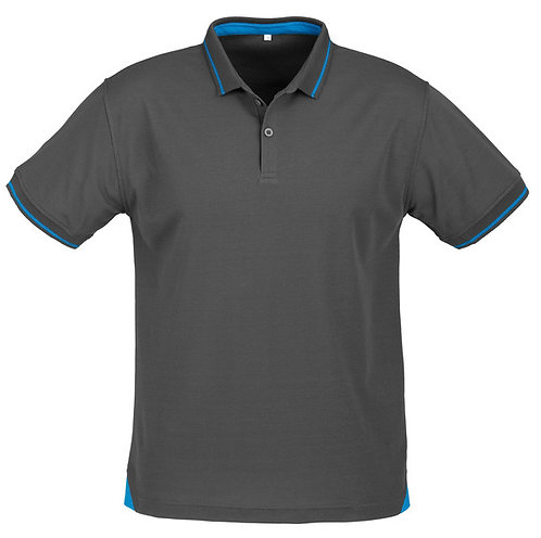 Jet Polo Shirt - Steel Grey / Cyan
