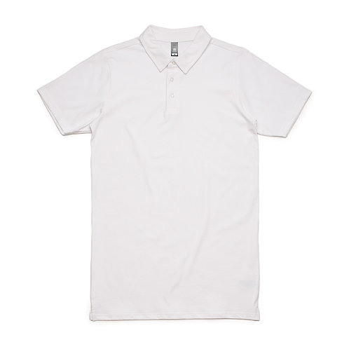 Mens 100% Cotton Jersey Polo White