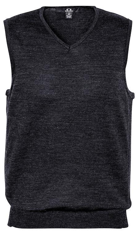 Mens Milano Wool Blend Vest - Charcoal