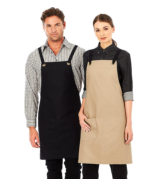 BROOKLYN Canvas Bib Apron in 9 Colours - MOQ 3