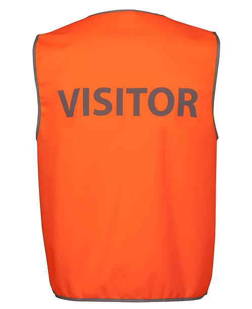 Hi Vis Safety Vest Visitor - Orange