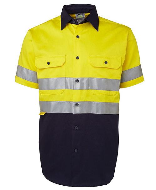 Hi Vis S/S (D+N) 190G Shirt - Yellow / Navy