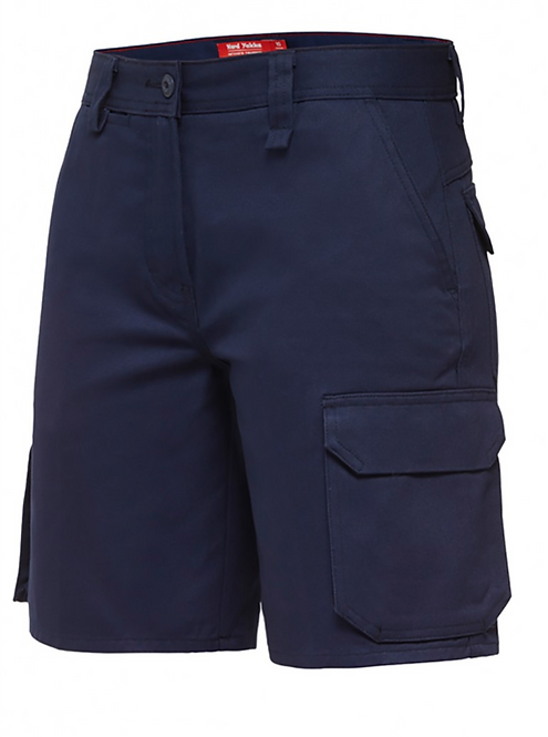Hard Yakka Womens Foundations Drill Cargo Short - Navy