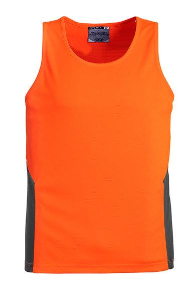 Unisex Hi Vis Squad Singlet - Orange/Charcoal