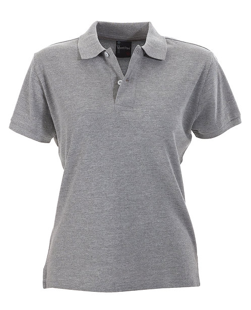 Ladies Slim Fit Venice Polo - Grey Marle MOQ 2