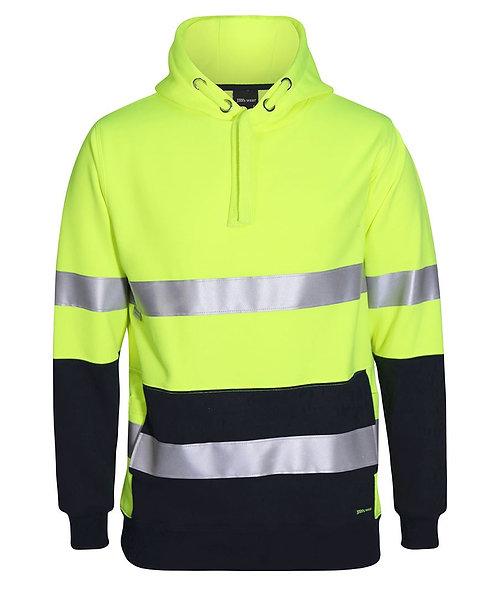 Hi-Vis D+N 330G Pullover Hoodie - Lime/Navy