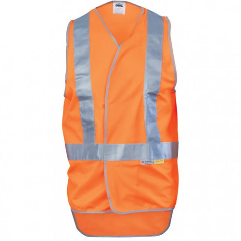 Day/Night Cross Back Safety Vests with Tail MOQ 3
