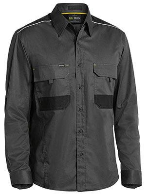Bisley Flex & Move Mechanical Stretch LS Shirt - Charcoal