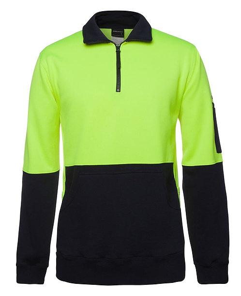 Hi Vis 330G 1/2 Zip Fleece - Lime/Navy