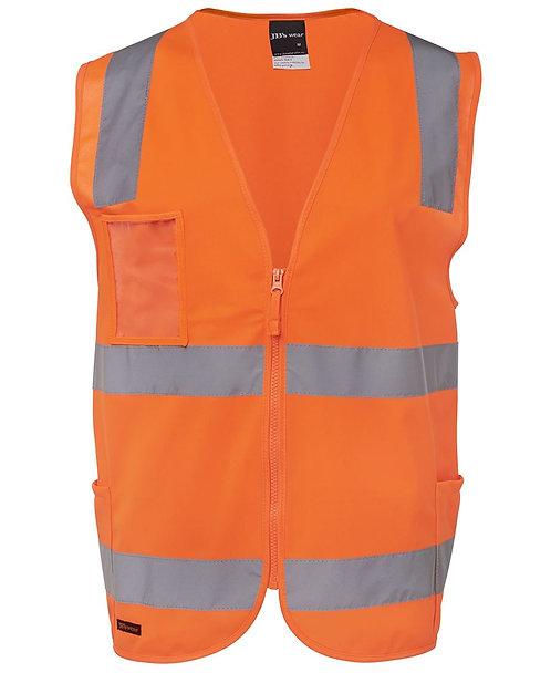 Hi Vis (D+N) Zip Safety Vest - Orange