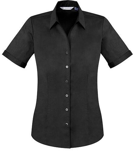 Womens Monaco SS Shirt - Black