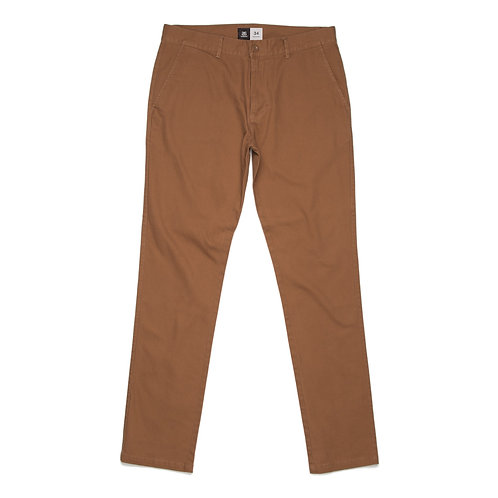 AS Colour Slim Chino Pant Tobacco - Available from