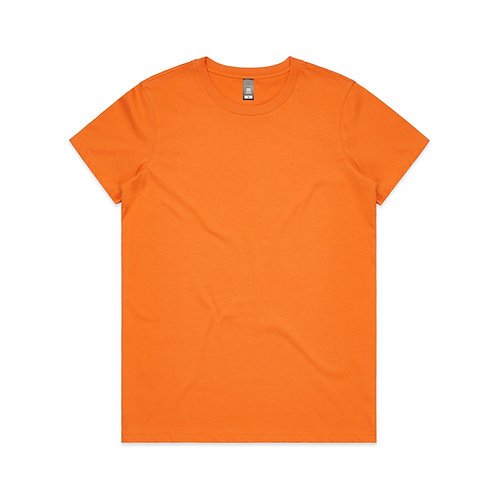 AS Colour Womens Maple Tee - Orange