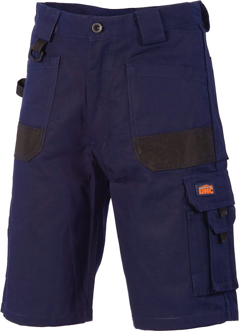 DNC Duratex Cotton Duck Weave Cargo Shorts - Navy