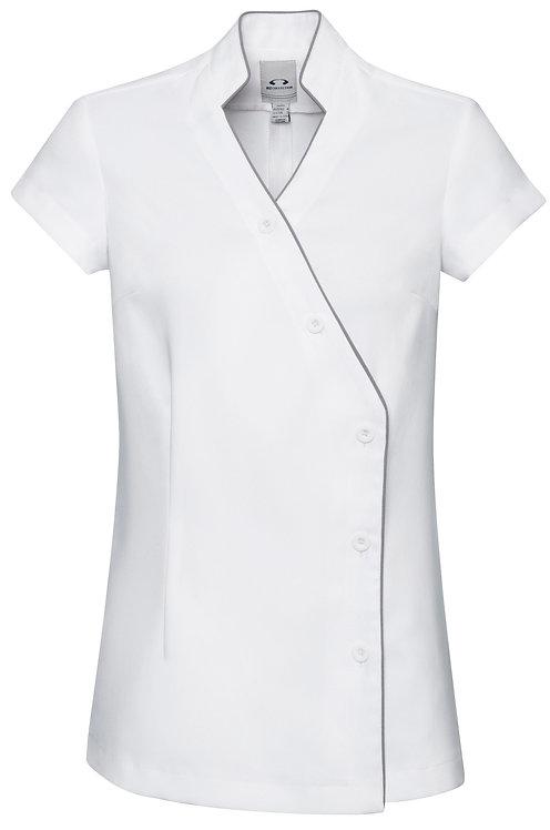 Ladies Zen Cross Over Tunic White/Silver