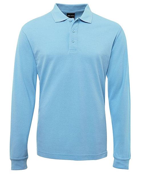 Long Sleeve Polo Shirt - Light Blue
