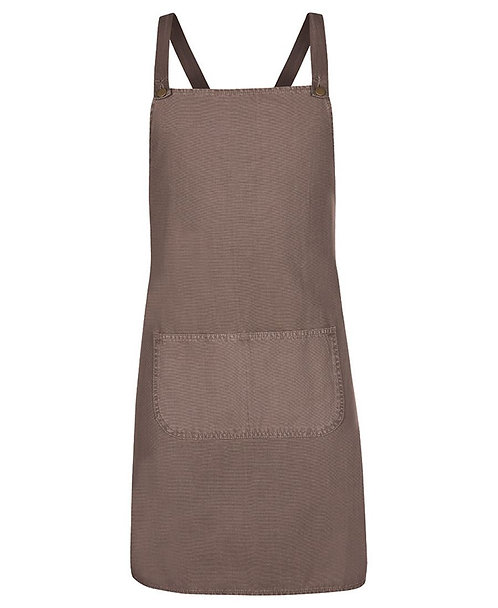 Latte Canvas Cross Back Apron with Changeable Straps