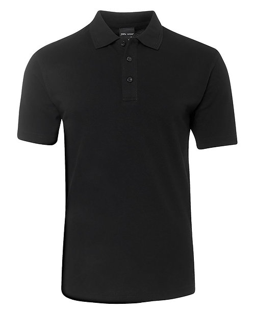 Mens Basic Pique Polo SS Black - 6/7XL & 8/9XL Available