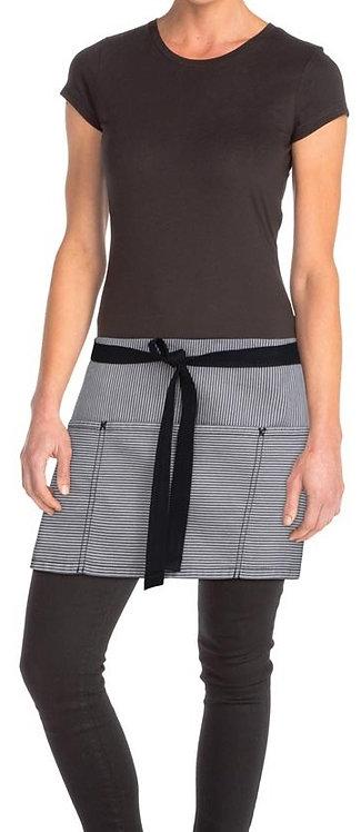 Portland Black Denim Short Waist Apron
