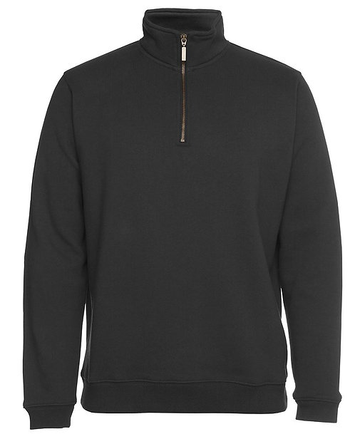 Cotton Rich 1/2 Brass Zip Windcheater - Gunmetal