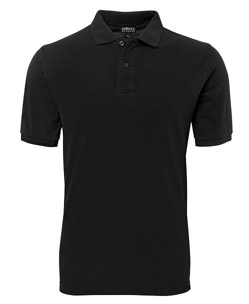 Mens 100% Cotton Pique SS Polo - Black