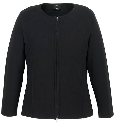Womens 2-Way Zip Cardigan - Black