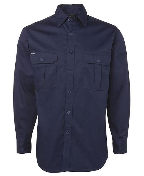 JB's L/S 190G Work Shirt - Navy