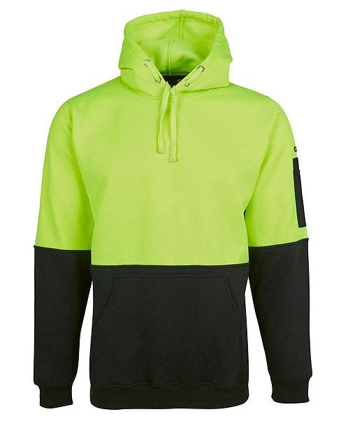 Hi Vis 280G Pull Over Hoodie - Lime/Black
